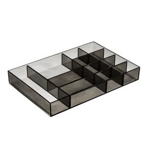 Porta Bijuteria Plástico Fumê 3,3x24x16