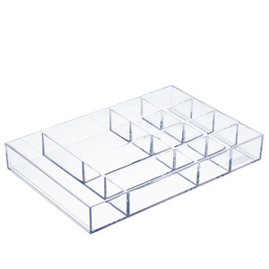 Porta Bijuteria Plástico Incolor 3,3x24x16