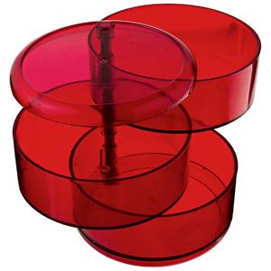 Porta Bijuteria Plástico Vermelho 13x11x11