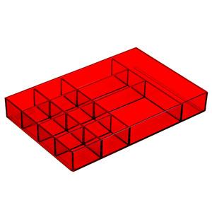 Porta Bijuteria Plástico Vermelho 3,3x24x16