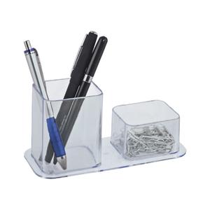 Porta Canetas Duplo Plástico Cristal Dello