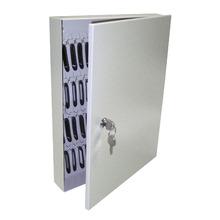 Porta Chaves com 60 Ganchos 405x500mm Aço Bege Dovale
