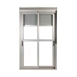 Porta Com Persiana Aluminio Branco 2 Folhas Taparella 215 X 120 X 19,5 Cm Jap