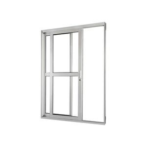 Porta Correr Natural Acetinado Aluminium Central Numero Folhas 2 Esquerdo 218 x 160 x 12 cm Sasazaki