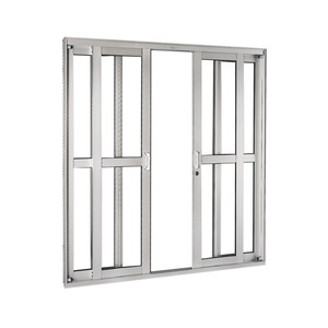 Porta Correr Natural Acetinado Aluminium Central Numero Folhas 4 Direito Esquerdo 218 x 200 x 12 cm Sasazaki