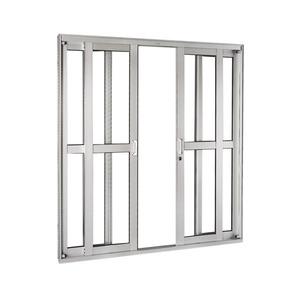 Porta Correr Natural Acetinado Aluminium Central Numero Folhas 4 Direito Esquerdo 218 x 250 x 12 cm Sasazaki