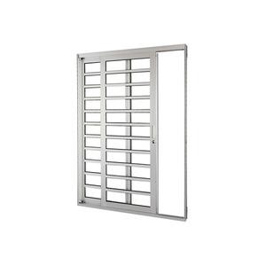 Porta Correr Natural Acetinado Aluminium Horizontal Numero Folhas 2 Esquerdo 218 x 160 x 12 cm Sasazaki