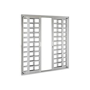 Porta Correr Natural Acetinado Aluminium Horizontal Numero Folhas 4 Direito Esquerdo 218 x 200 x 12 cm Sasazaki