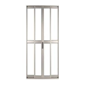 Porta montada de correr lisa metal alum nio ambos os lados for Porta 240 cm