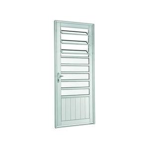 Porta de abrir 217x88x8 cm Direito Natural acetinado em Aluminium Sasazaki