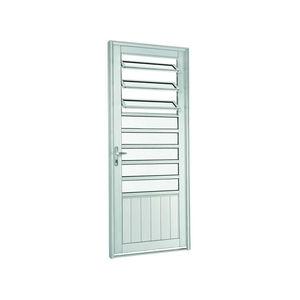 Porta de abrir 217x88x8 cm Esquerdo Natural acetinado em Aluminium Sasazaki