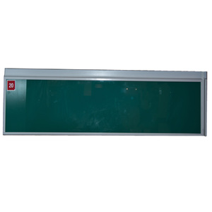 Porta de Alumínio Gaveta Modelo 419 Vidro Verde 200x745 JR Madeiras