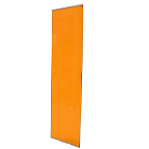 Porta de Alumínio Modelo 404 Vidro Laranja 1935x480 JR Madeiras