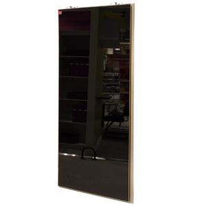 Porta de Alumínio Modelo 406 Vidro Preto 1940x750 JR Madeiras