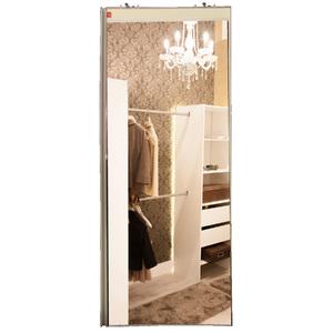 Porta de Alumínio Modelo 407 Espelho Prata 1940x750 JR Madeiras