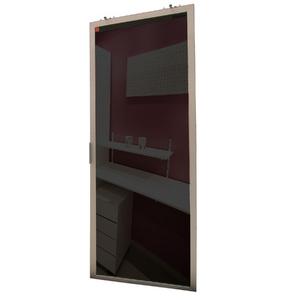 Porta de Alumínio Modelo 409 Vidro Incolor 1940x750 JR Madeiras