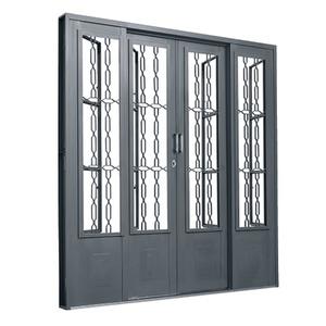 Porta montada de correr postigo metal a o central 2 14x2m for Porta asciugamani leroy merlin