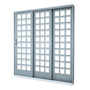 Porta de correr Suprema Quadr 3F 214X150X14D Lucasa