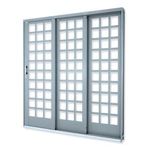Porta de correr Suprema Quadr 3F 214X150X14E Lucasa