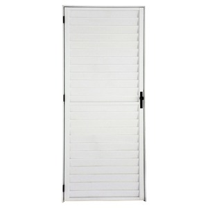 Porta Decorada Alumínio Branco 210 cmx86 cmx4 cm 1 folha L25 Atlântica