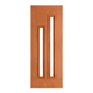 Porta Decorada em Madeira 210x70cm Mogno Randa