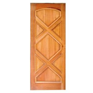 Porta Decorada em Madeira 210x80cm Imbuia Impel