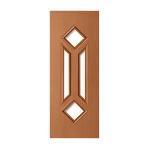Porta Decorada em Madeira 210x80cm Mogno Randa
