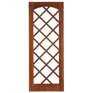 Porta Decorada em Madeira 210x82cm Imbuia Impel