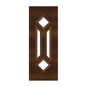 Porta Decorada em Madeira 210x82cm Imbuia Randa