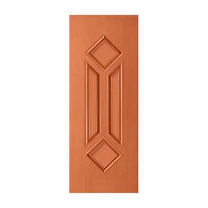 Porta Decorada em Madeira 210x82cm Mogno Randa