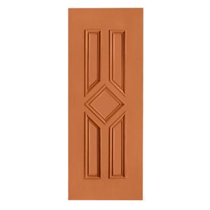 Porta Decorada em Madeira 210x92cm Mogno Randa