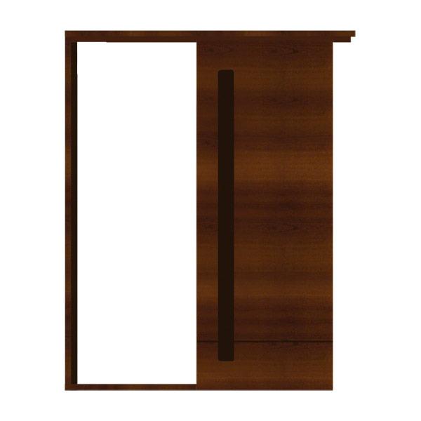 Porta montada de correr madeira imbuia esquerdo 2 15x0 82m - Porta carta igienica leroy merlin ...
