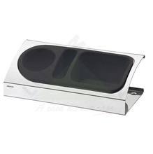 Porta Detergente Aço Inox e Plástico Preto Suprema Brinox