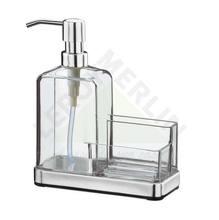Porta Detergente Aço Inox e Plástico Transparente e Inox Elegance Brinox