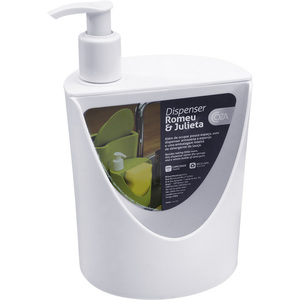 Porta Detergente e Sabão Plástico 18x12x11 10837 Branco Brinox