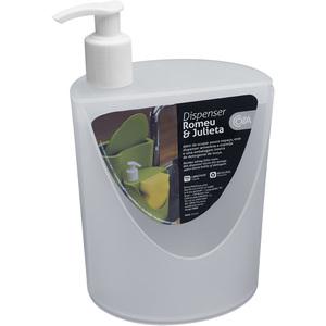 Porta Detergente e Sabão Plástico 18x12x11 10837 Natural Brinox