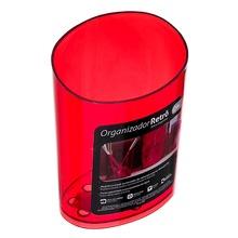 Porta Detergente Plástico Vermelho Transparente Organizadores Coza