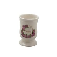 Porta Escova de Dente Bege em Cerâmica Sweet Home Importado