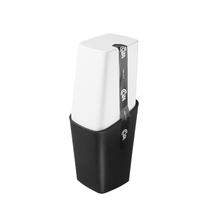 Porta Escova de Dente Branco e Preto Plástico Square Coza
