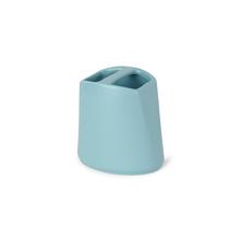 Porta Escova de Dente Cerâmica Redondo Ava Blue Sensea