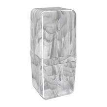 Porta Escova de Dente com Tampa Mármore em Plástico Cube Coza