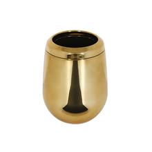 Porta Escova de Dente Dourado em Plástico Belly Sensea
