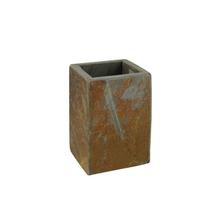 Porta Escova de Dente Marrom em Pedra Heavy Importado