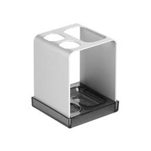 Porta Escova de Dente Metro Ultra Cromado Metal e Plástico Interdesign