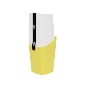 Porta Escova de Dente Plástico com Tampa Amarelo