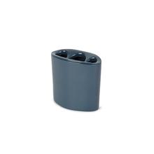 Porta Escova de Dente Plástico Redondo Orvino Night Blue Sensea
