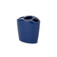Porta Escova de Dente Plástico Redondo Torina Dark Blue Sensea