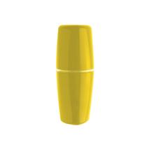 Porta Escova de Dente Plástico Redondo Tule Amarelo Ou