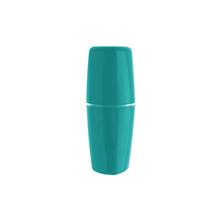 Porta Escova de Dente Plástico Redondo Tule Azul Ou
