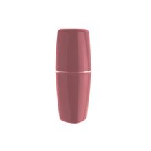Porta Escova de Dente Plástico Redondo Tule Rosa Ou